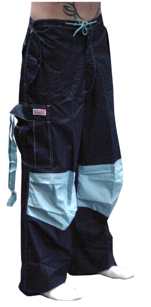 Unisex Basic UFO Pants (Navy / Lt. Blue Two Tone)