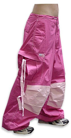Unisex Basic UFO Pants (Pink Two Tone)