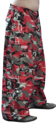 Unisex Basic UFO Pants (Red Camo)