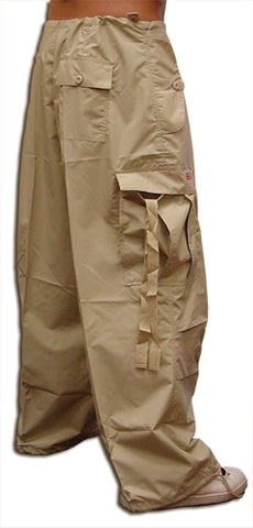 Unisex Basic UFO Pants w/ Zip Off Legs to Shorts (Khaki)