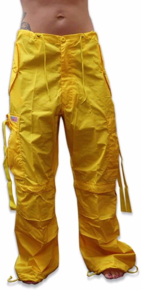 Unisex Basic UFO Pants w/ Zip Off Legs to Shorts (Yellow)
