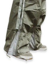 Unisex Basic UFO Pants with Expandable Bottoms (Moss/Lt Grey)
