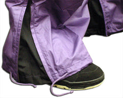 Unisex Basic UFO Pants with Expandable Bottoms (Purple / Black)