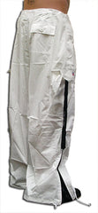 Unisex Basic UFO Pants with Expandable Bottoms (White / Black)