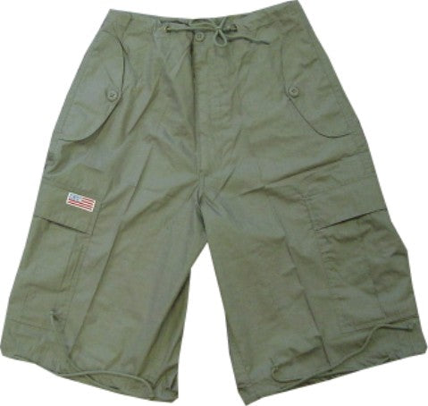 Unisex Basic UFO Shorts  (Moss Green)