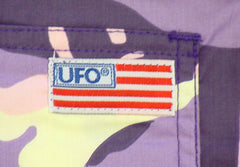 Unisex Basic UFO Shorts  (Purple Camo)