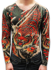 Unisex Full Body Tattoo Shirt - Vicious Tiger