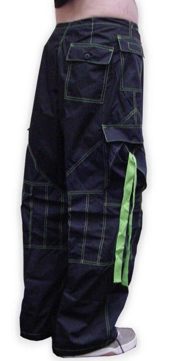 Unisex UFO Pants with Contrast Color (Black / Limey)