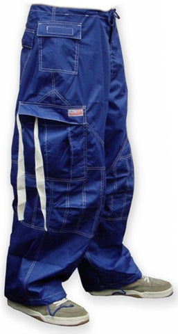 Unisex UFO Pants with Contrast Color (Royal Blue/White)