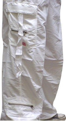 Unisex UFO Slim Fit Cantiene Pants (White)