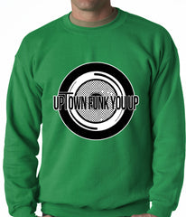 Uptown Funk You Up Record Adult Crewneck