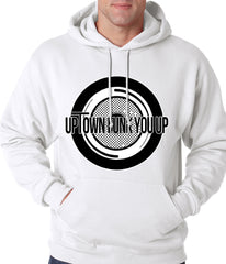 Uptown Funk You Up Record Adult Hoodie