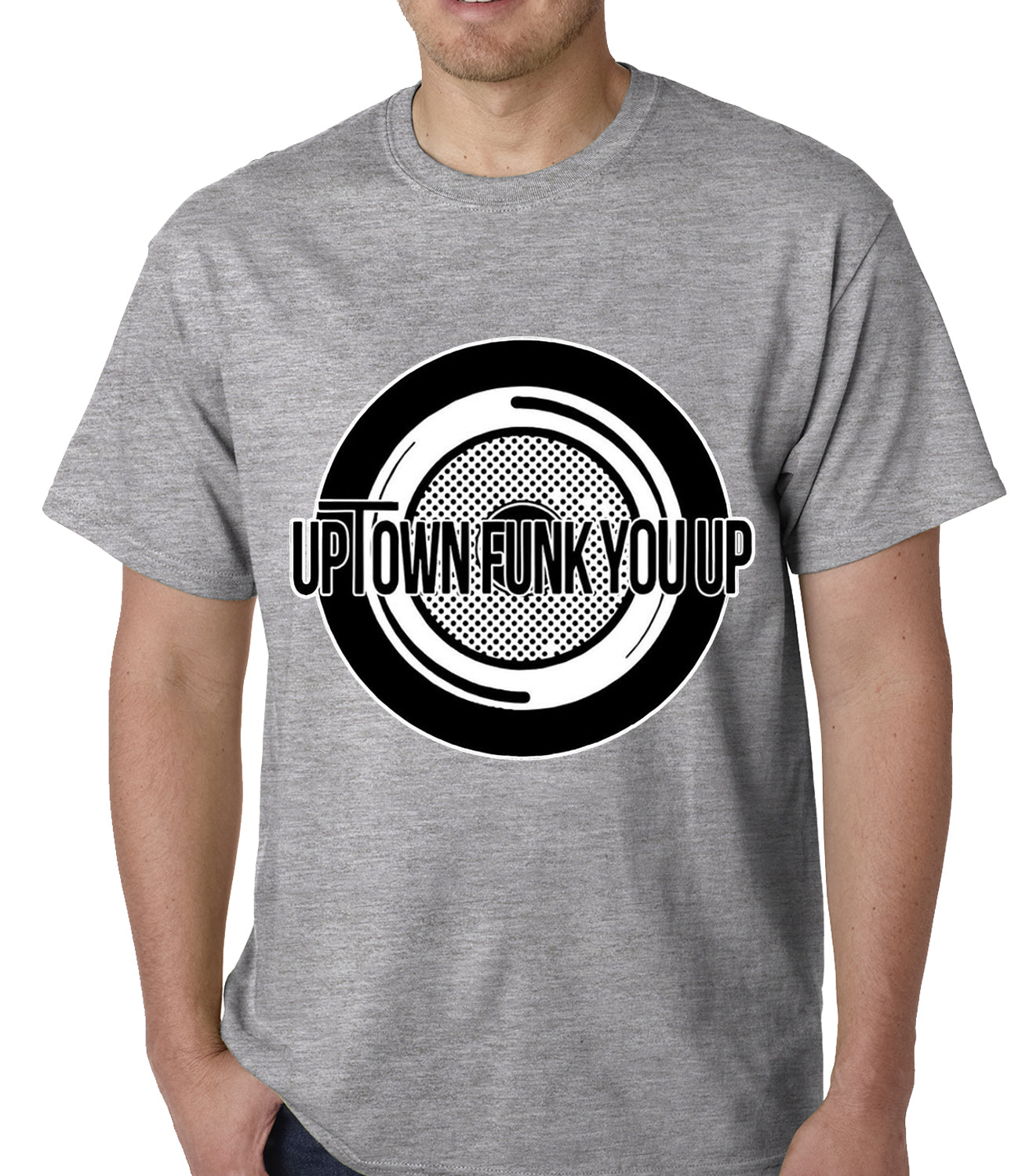 Uptown Funk You Up Record Mens T-shirt