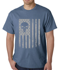 USA - American Flag Military Skull Mens T-shirt
