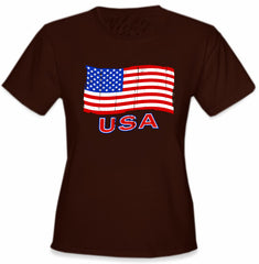 USA Vintage Flag Girl's T-Shirt