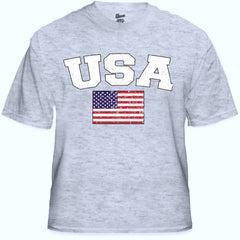 USA Vintage Flag International Mens T-Shirt