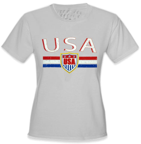 USA Vintage Shield International Girls T-Shirt