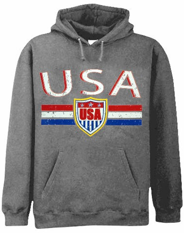 USA Vintage Shield International Hoodie