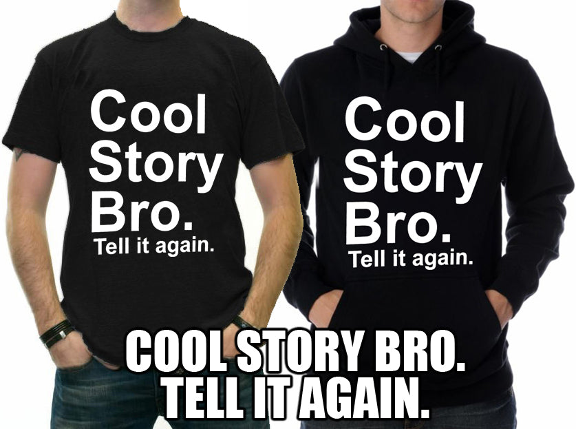 As Seen On Jersey  - Cool Story Bro. Tell It Again. Adult Hoodie