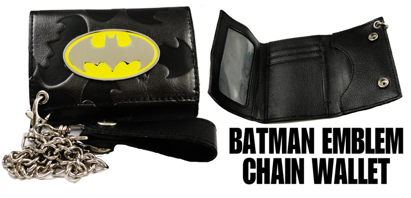 "Batman ""Classic Steel"" Emblem Chain Wallet"