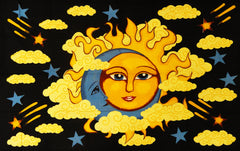 Sun in Clouds Wall Tapestry