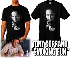 "Tony  ""Smoking Gun"" Men's T-Shirt (Black)"