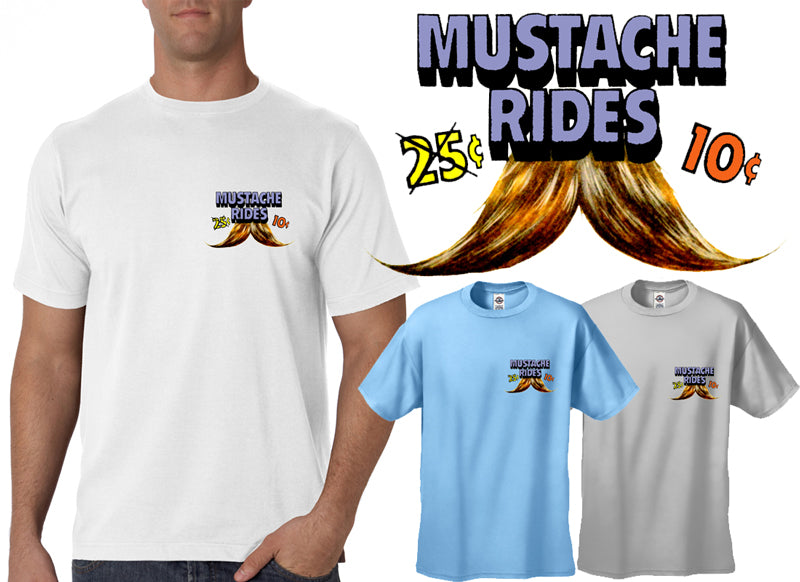 10 Cent Mustache Rides Men's T-Shirt (Pocket Print)