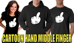 Cartoon Hand Middle Finger Men's T-Shirt