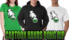 Cartoon Hands Bong Rip Men's T-Shirt