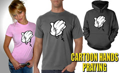 Cartoon Hands Praying Men's T-Shirt