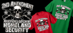 2nd Amendment  America's Original Home Land Security Men's T-Shirt