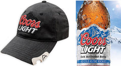 Coors Light Bottle Opener Plaid Snapback Hat