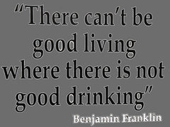 There Cant Be Good Living (Benjamin Franklin) Men's T-Shirt