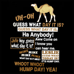 Hump Day Camel Girl's T-Shirt (Brown & White Print)