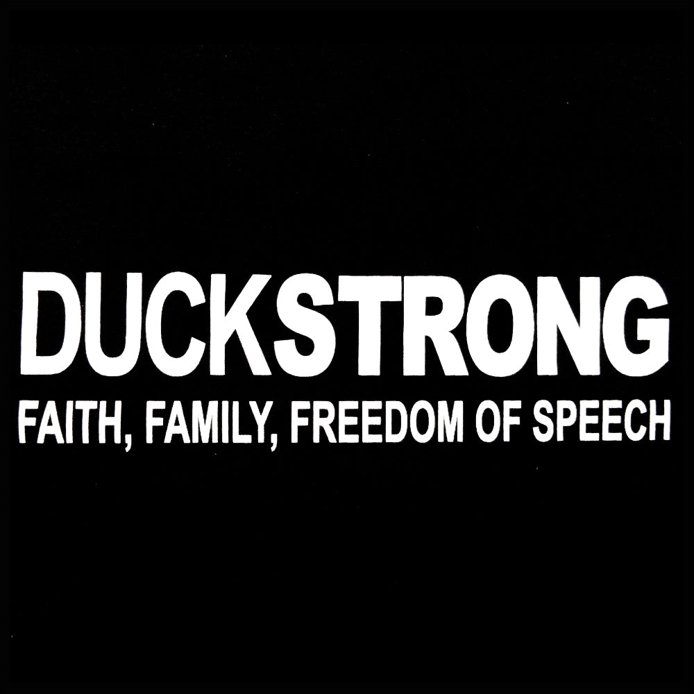 DuckStrong Faith, Family, Freedom Of Speech Adult Hoodie