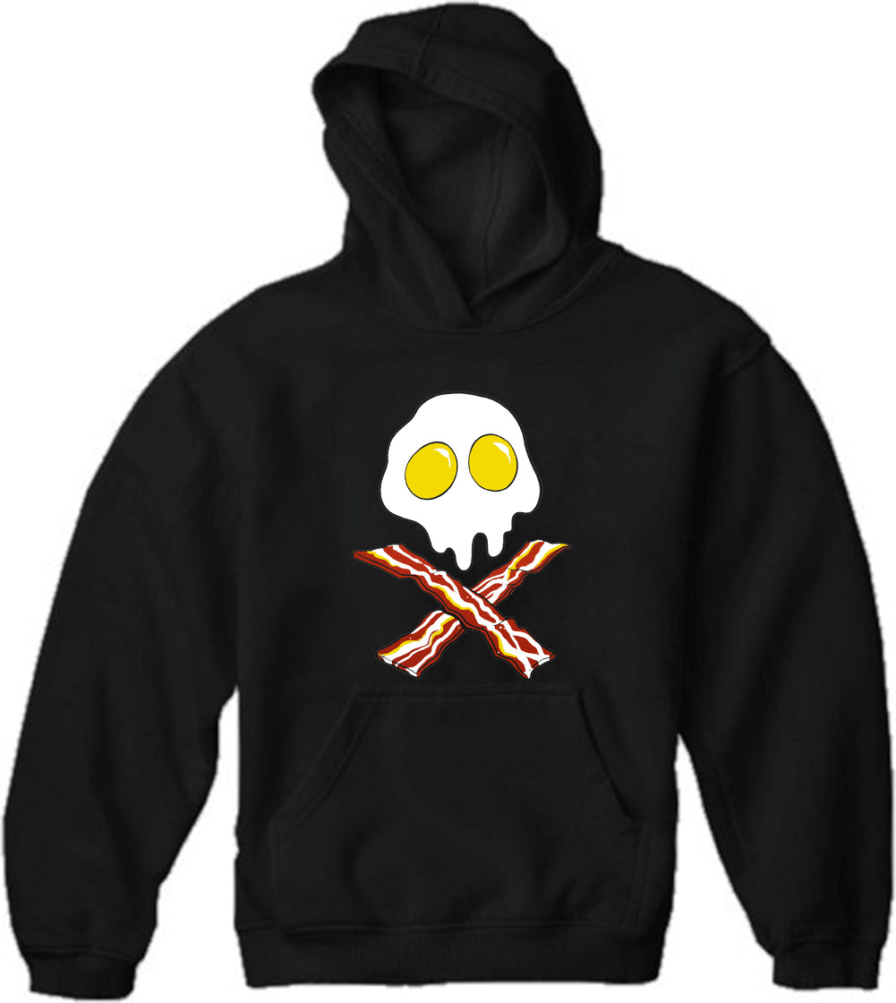 Eggs Bacon Skull Adult Hoodie