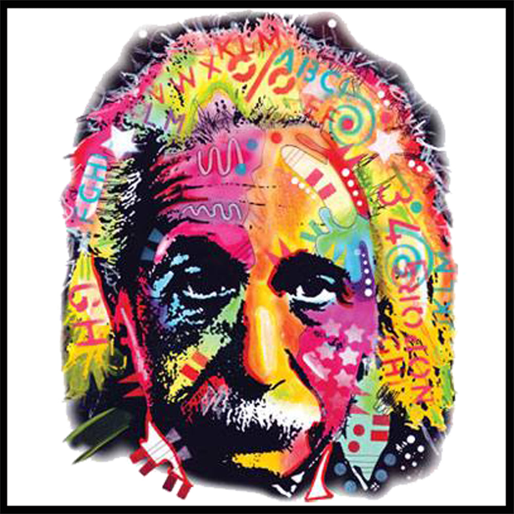 Einstein Graffiti Fractal Girl's T-Shirt