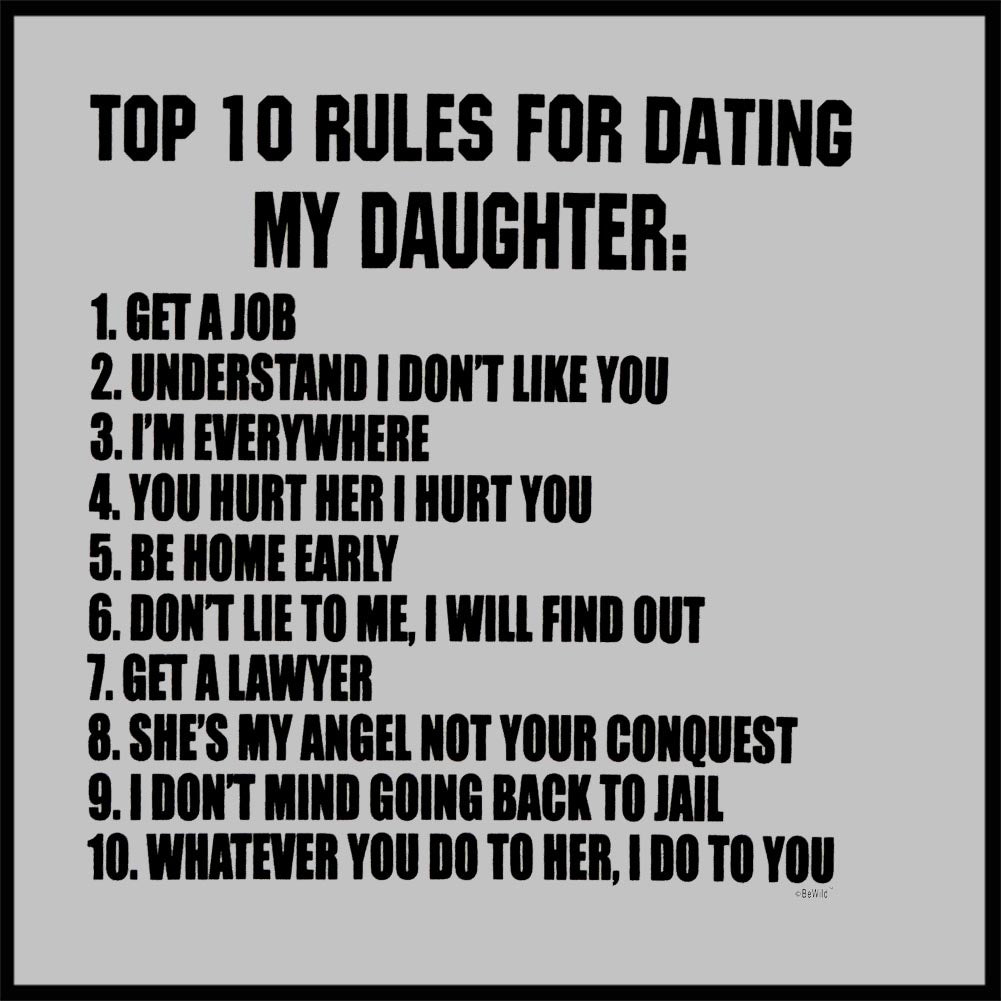 Top 10 Rules For Dating My Daughter Adult Hoodie