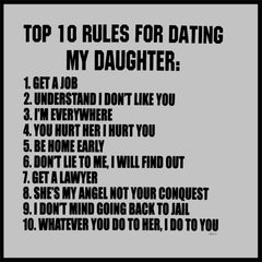 Top 10 Rules For Dating My Daughter Crew Neck Sweatshirt