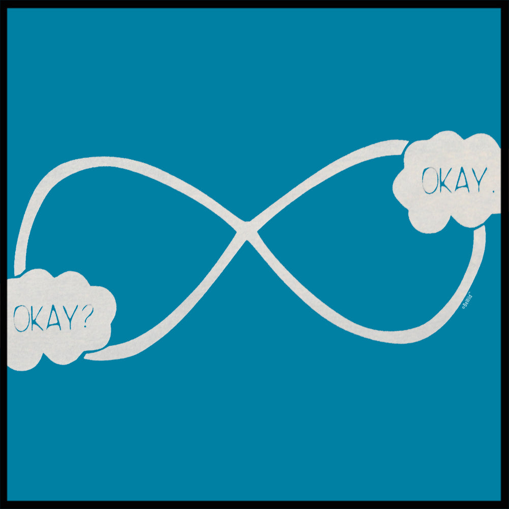 """Okay? Okay."" John Green Quote The Fault in Our Stars Infinity Symbol Crewneck Sweatshirt"