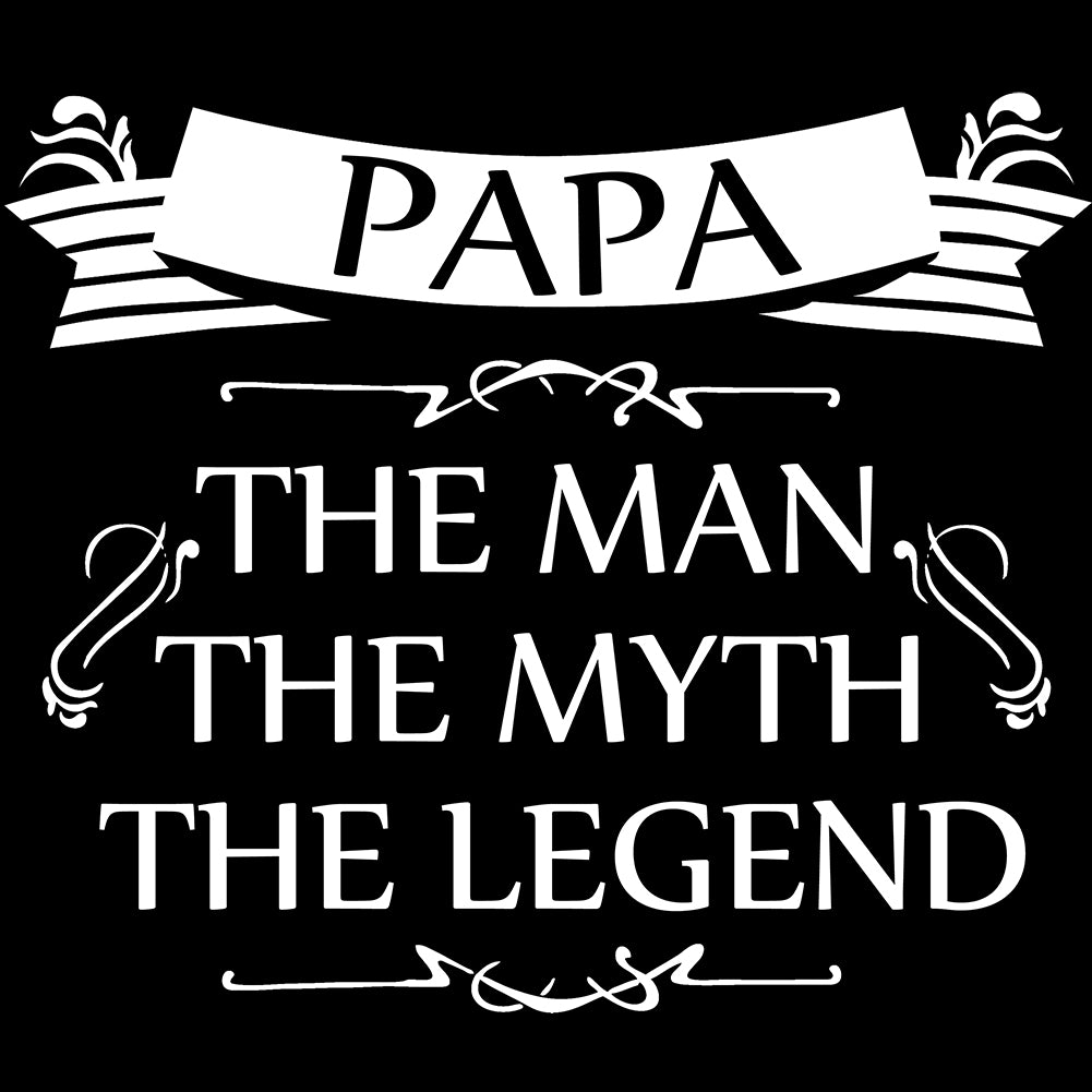 Mens Papa - The Man, The Myth, The Legend Fathers Day Tank Top