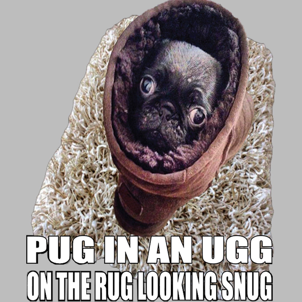 Pug In An Ugg On a Rug Looking Snug Tank Top