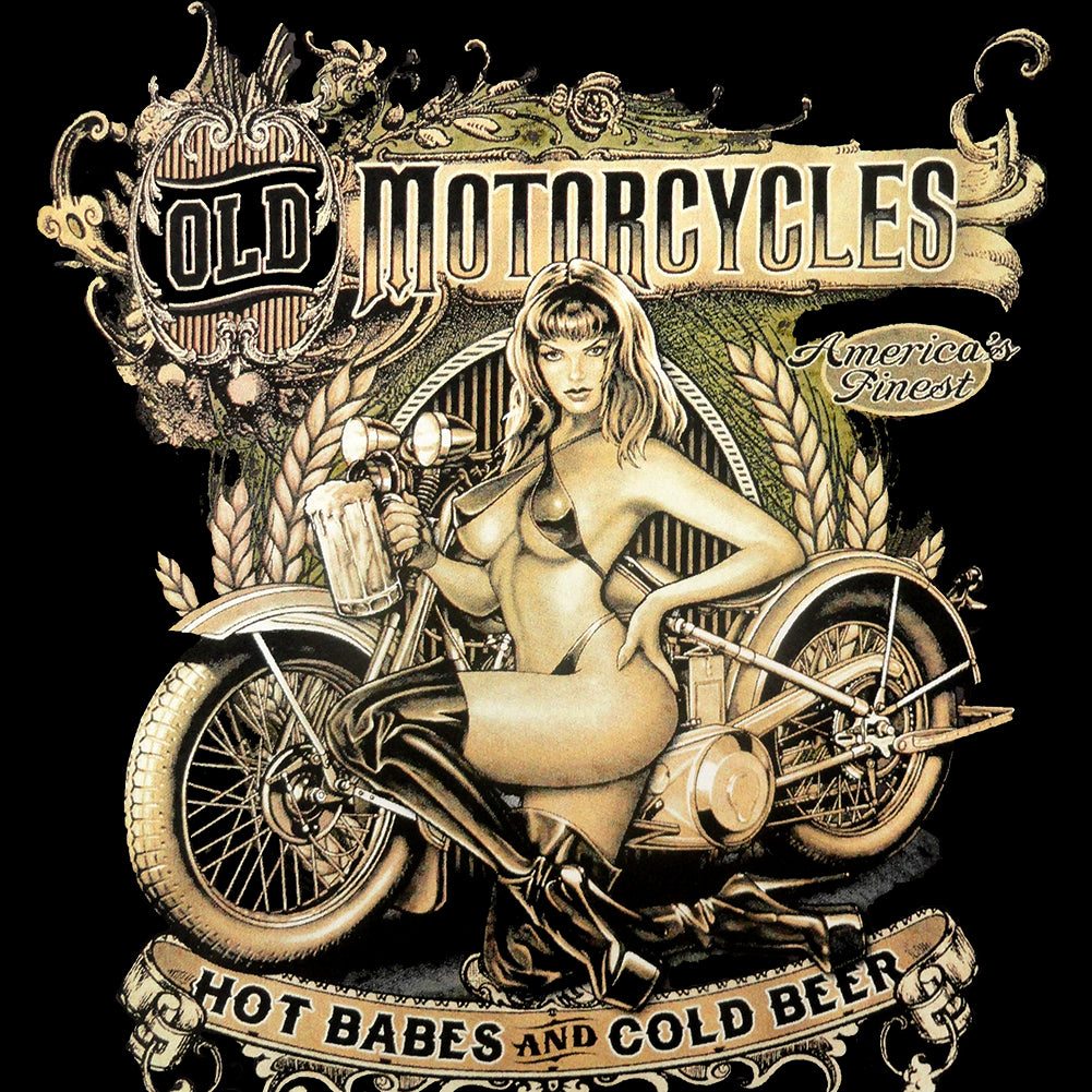Hot Babes and Cold Beer Biker Mens T-shirt