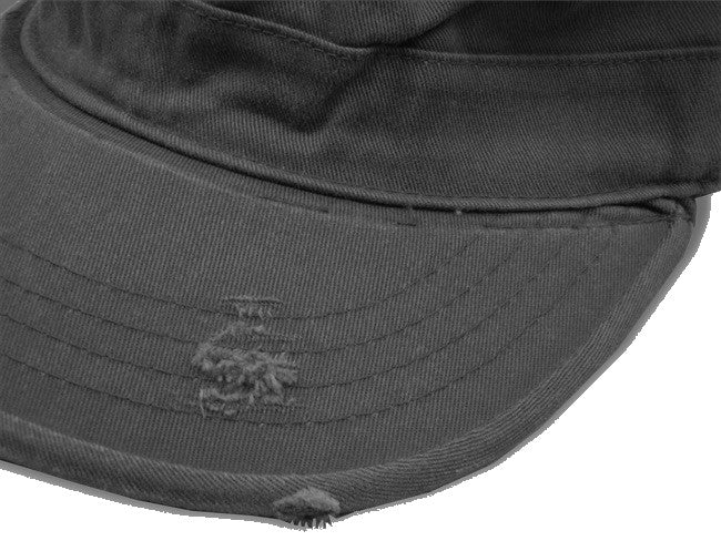 Vintage BDU Fatigue Combat Hat (Black Jolly Roger)