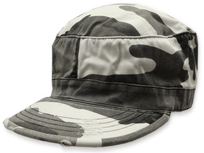 Vintage BDU Fatigue Combat Hat (City Camo)