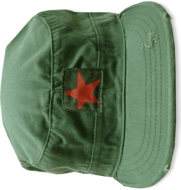 Vintage BDU Fatigue Combat Hat (Olive Drab w/ Star)