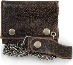 Vintage Leather Chain Wallet