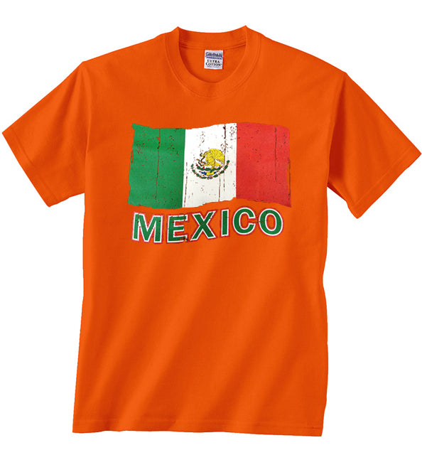 Vintage Mexico Waving Flag Kids T-Shirt