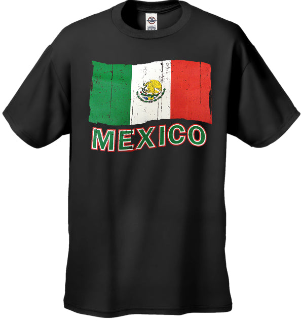 Vintage Mexico Waving Flag Men's T-Shirt