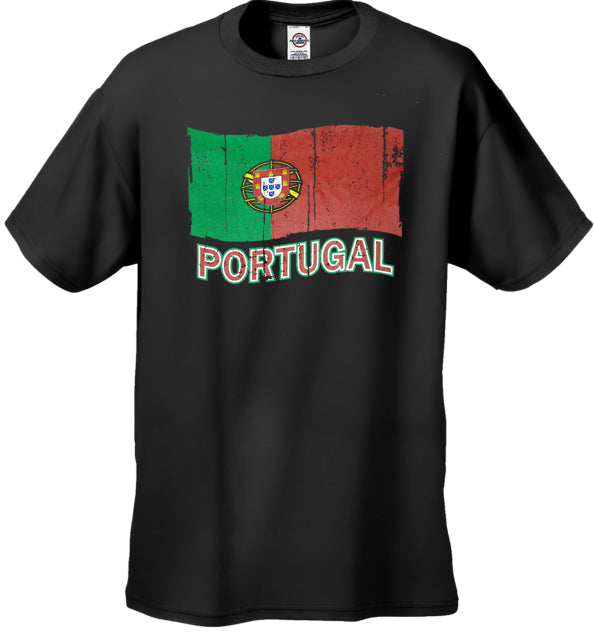Vintage Portugal Waving Flag Kid's T-Shirt